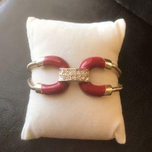 Jewelmint Red Anchor Gold Bracelet